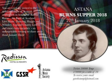 Burns Supper 2018 Astana
