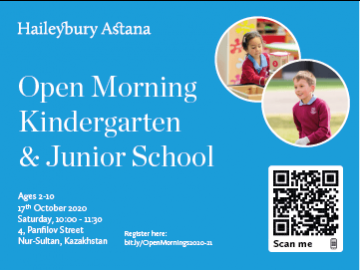 Join Haileybury Astana Open Morning in Kindergarten and Junior School