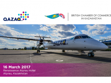 Qazaq Air's launch of new routes in western Kazakhstan